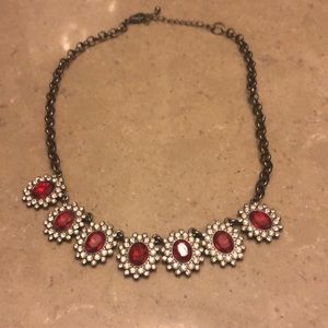Jewelry - Statement necklace red jewels
